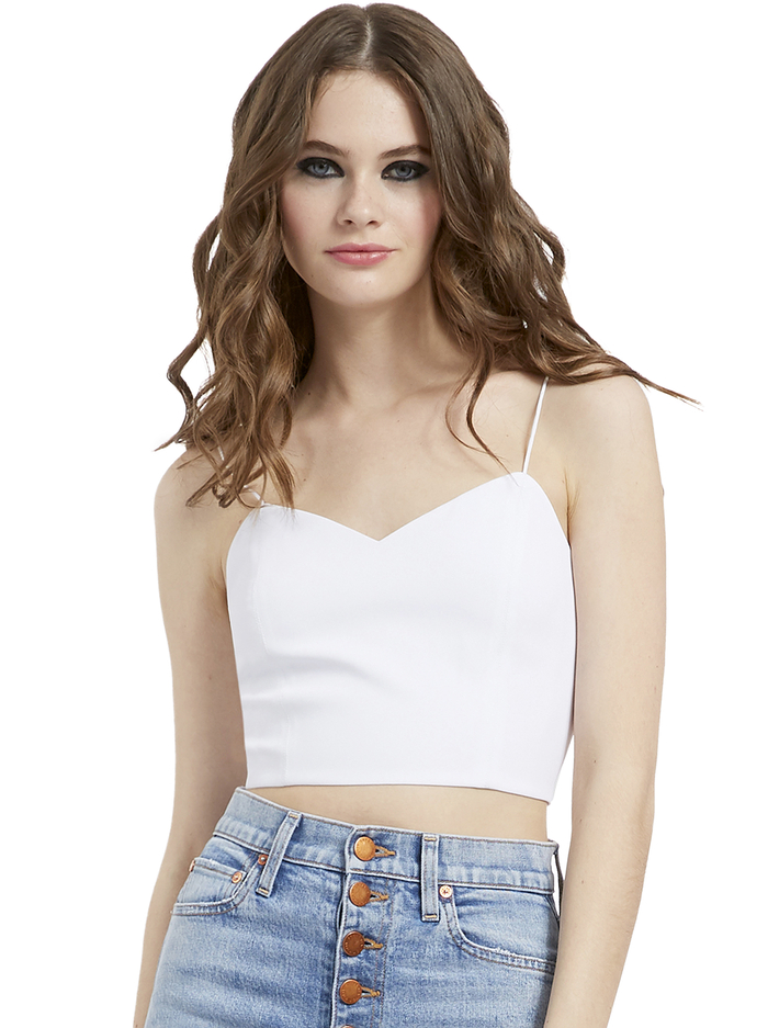 ARCHER CROPPED CAMI - WHITE - Alice And Olivia