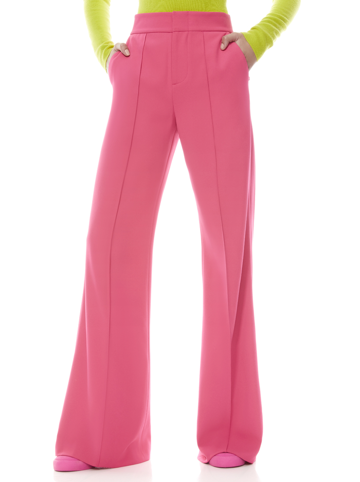 DYLAN HIGH WAISTED WIDE LEG PANT - WILD PINK - Alice And Olivia