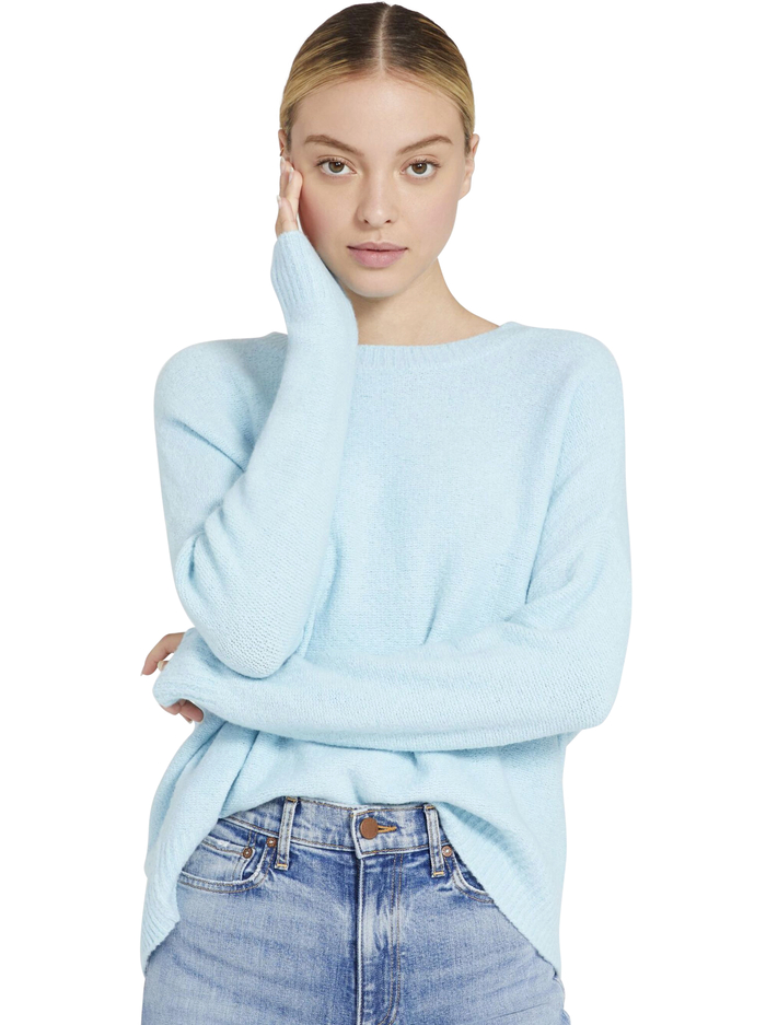 ROMA OVERSIZED PULLOVER - POWDER BLUE - Alice And Olivia