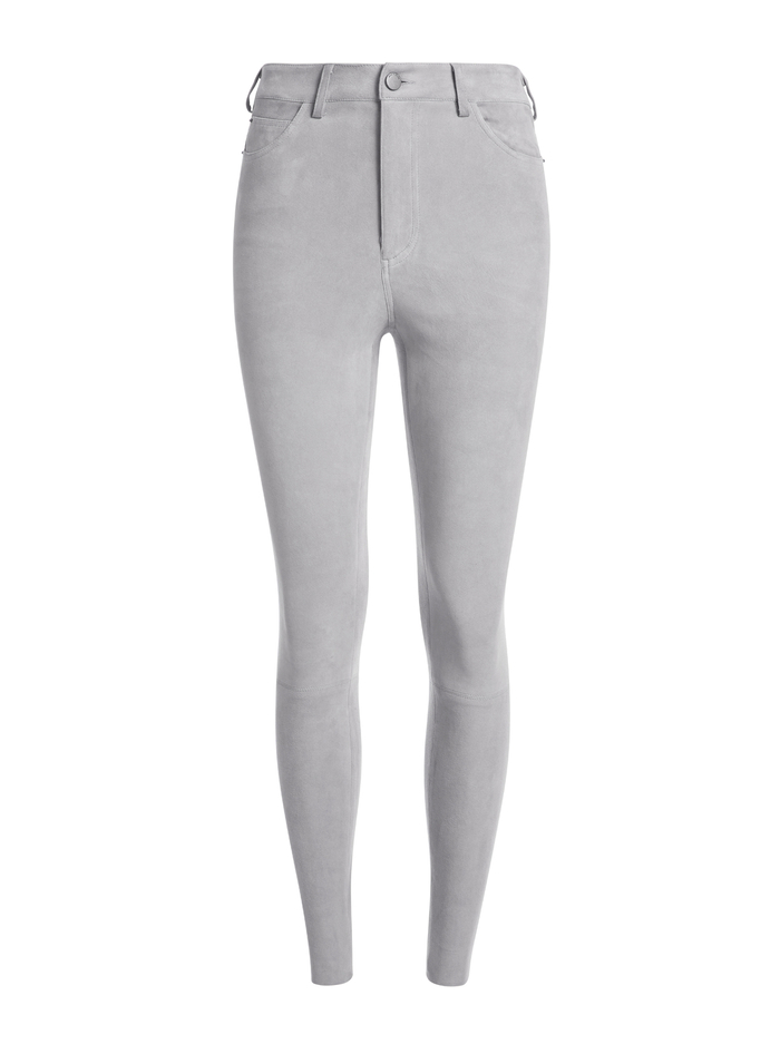 MIKAH SUEDE HIGH RISE PANT - SLATE - Alice And Olivia