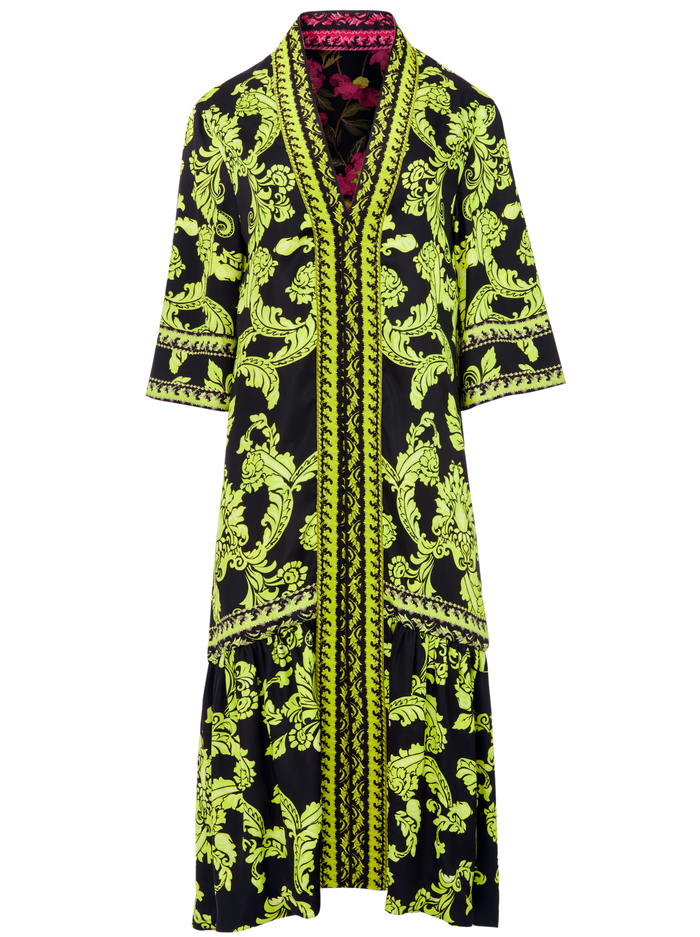 DOTTIE REVERSIBLE KIMONO - SHOW ME LOVE LIME PUNCH MULTI - Alice And Olivia