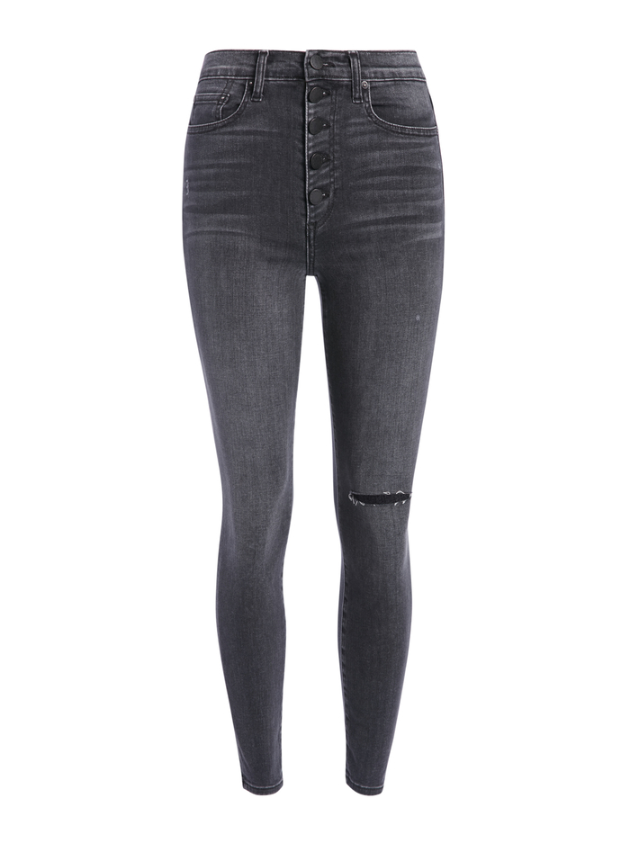 GOOD HIGH RISE ANKLE SKINNY JEAN - YES SHE WILL - Alice And Olivia