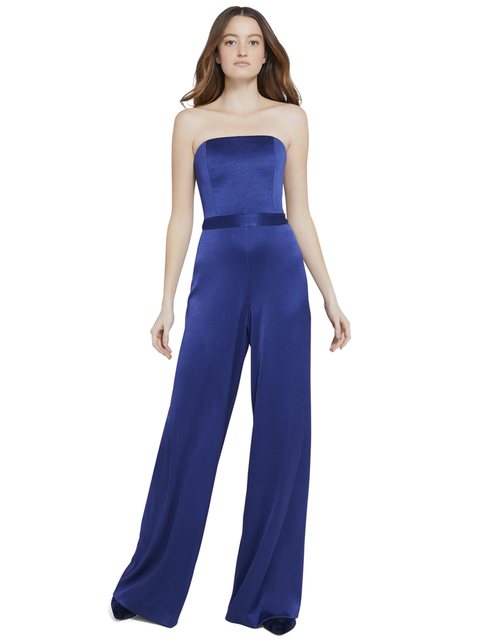 ATHENA BUSTIER JUMPSUIT - AZURE - Alice And Olivia