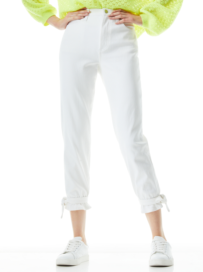 AMAZING HIGH RISE TIE PANT     - VINTAGE SUGAR - Alice And Olivia