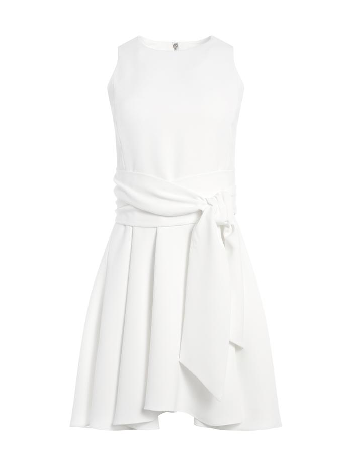 WESLEY FLARE MINI DRESS - WHITE - Alice And Olivia