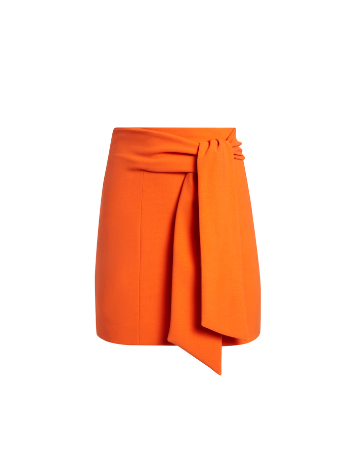 RIVA MINI SKIRT WITH TIE - MONARCH - Alice And Olivia