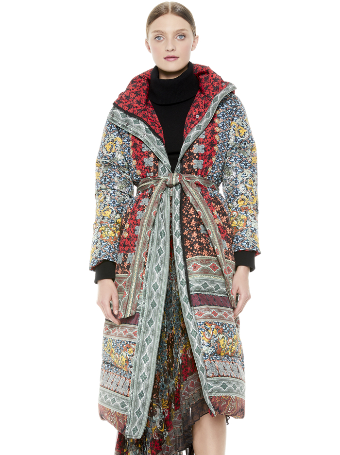 JULIAN OVERSIZED PAISLEY PUFFER - ALWAYS FOREVER MULTI - Alice And Olivia