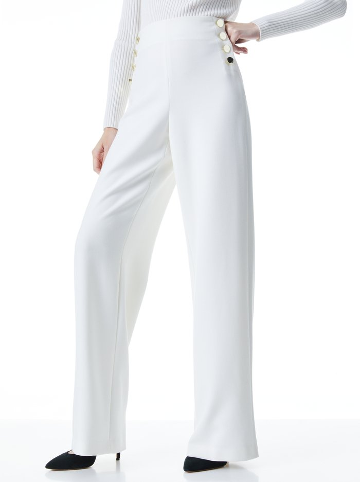 RAY HW FT BTN PANTS - OFF WHITE - Alice And Olivia