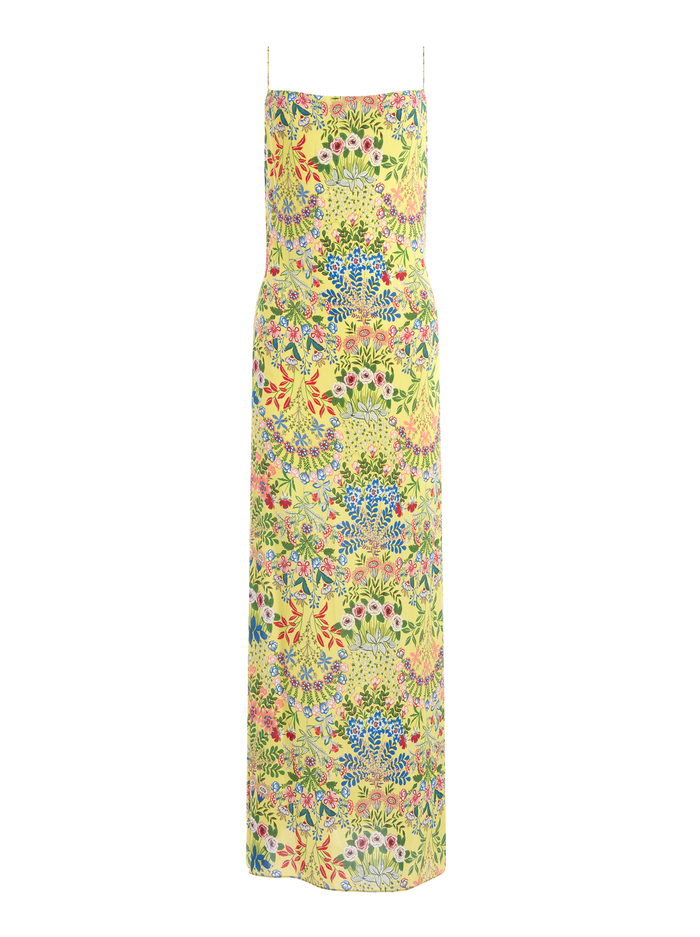 HARMONY FLORAL MAXI DRESS - WILDFLOWER DAFFODIL - Alice And Olivia