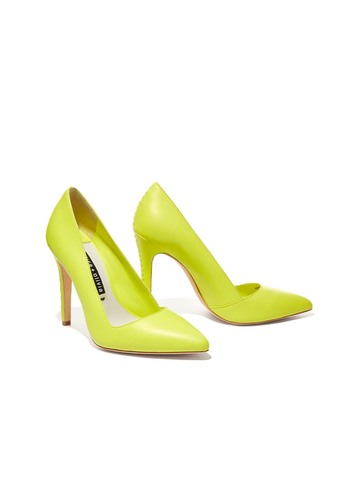 DINA HEEL - LIME PUNCH - Alice And Olivia