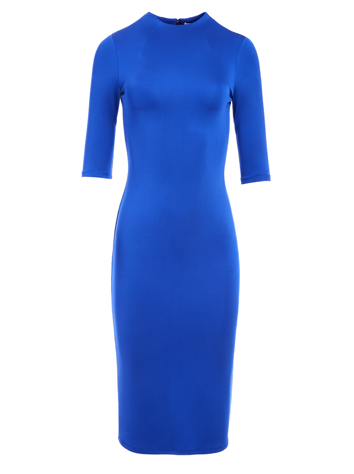 DELORA MOCK NECK MIDI DRESS - ULTRA MARINE - Alice And Olivia