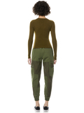 CIARA CROPPED PULLOVER - OLIVE