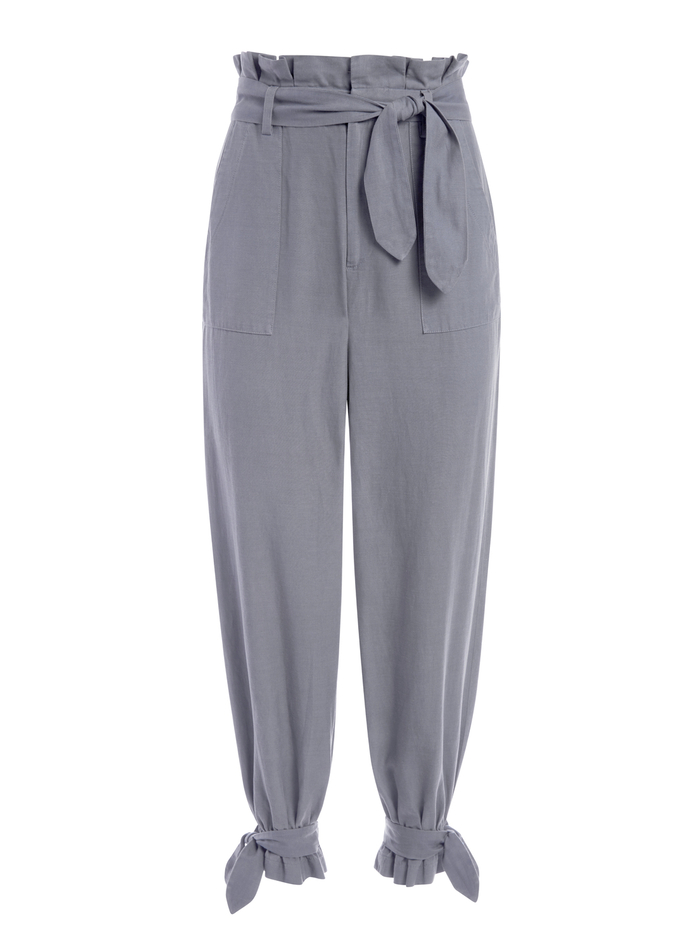 LIAM PAPERBAG PANT - CHARCOAL - Alice And Olivia