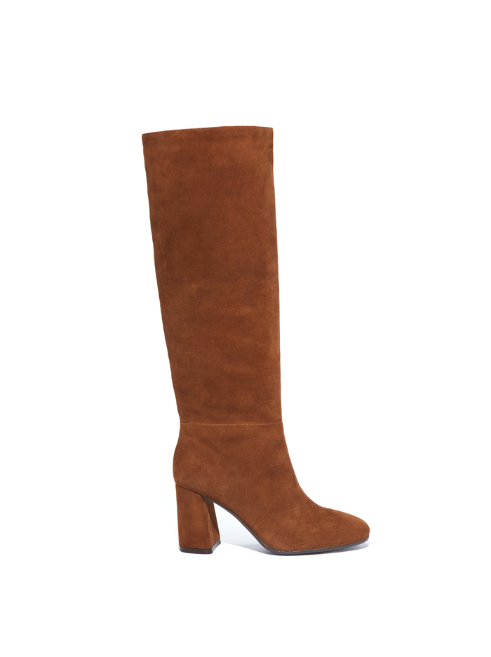 DUPRE HIGH KNEE BOOT - CHOCOLATE - Alice And Olivia