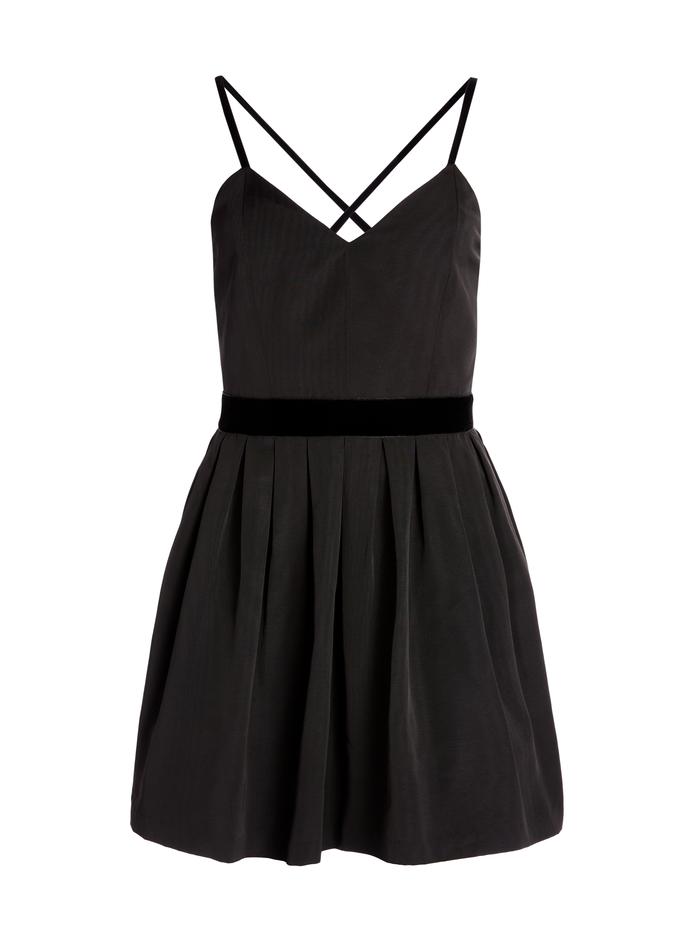 MADISON PLEATED MINI DRESS - BLACK - Alice And Olivia