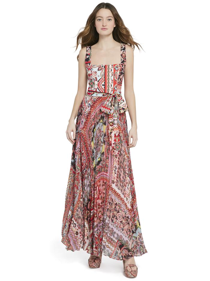 DEONNA PLEATED MAXI DRESS - EUPHORIA - Alice And Olivia