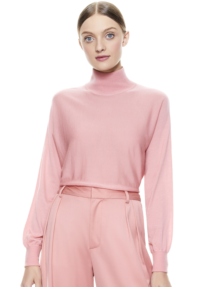 DIA CROPPED SWEATER - ROSE - Alice And Olivia